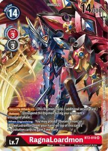 RagnaLoardmon BT3-019 SR Digimon Card