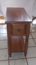 Solid Oak End Table / Side Table with Drawer  (T361)