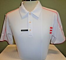 NEW ADIDAS Contrast Stitch S/S POLO GOLF SHIRT,WHITE/BRIGHT CORAL,PICK SIZE, $75