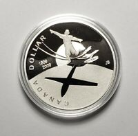 Canada 2009 Flight Airplane .925 Sterling Silver $1.00 One Dollar Coin Proof COA
