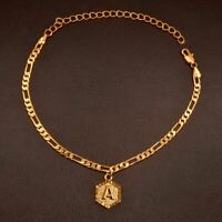 Chain Extender Gold Initial Letters Anklet for Women Fashion Alphabet Jewelry