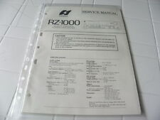 Sansui Factory Original Service Manual RZ-1000 Computerized Stereo Receiver