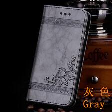 Cartera De Cuero Tarjetas De Crédito Estuche Funda Para Samsung Galaxy S3/S4/S5