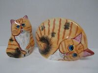 Cats by Nina Lyman (?) Vase Planters Large & Smaller - Excellent Condition!