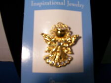Angel Pin Metal with Rhinestones Bright Finish by Grasslands Road 3