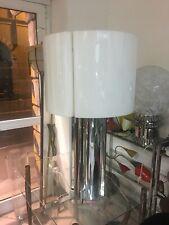 LAMPADA DA TAVOLO 70s ACCIAIO CROMO PERSPEX ITALIAN DESIGN TABLE LAMP