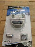 Exustar E-C101AL Cleats for Toe Clip Pedals, 3 Bolt Compatible L'Eroica or Track
