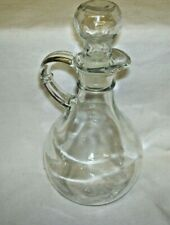 Clear Glass Cruet with Stopper
