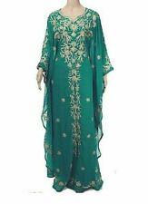 Dubái Vino Marroquí Caftán Georgette Vestido Jilbāb Árabe Ropa Ms 10101-492