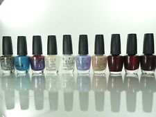 lot of 10 Opi Nail Lacquer All in different colors .5oz/15ml ea