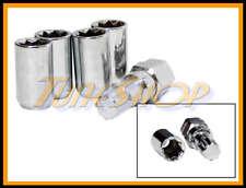 4 TUNER WHEEL LOCK LUG NUTS 8 POINT KEY 12X1.5 12 1.5 ACORN OPEN END CHROME H