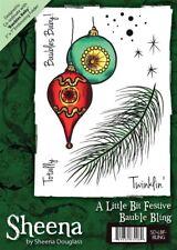 Crafters Companion Sheena Douglass A6 Navidad Sello - Bolas Blink