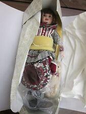 Franklin Mint Heirloom Coca Cola Doll Megan, New in Open Box