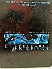 "Dvd - ""Unbreakable"" 2-Disc Set, Bruce Willis, Samuel Jackson, Discs are Mint Con"