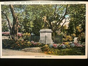 Vintage Postcard>1915-30>Ball Player Monument>Berkeley>University of California