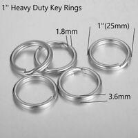 Heavy Duty 1'' 25mm Stainless steel Split Rings Key Rings 13Gauge Craft Supplies