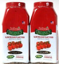 2 Count Jobe's Organics 1.2 Lbs Vegetable & Tomato Slow Release Plant Food