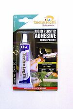 Strong Clear Adhesive Glue For Hard Plastic Abs Tr Eva Perspex Acrylic Glass New