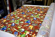 """COVINGTON SPORTS NUT RED DESIGNER UPHOLSTERY & HOME DECOR FABRIC 54"""" W BTY"""