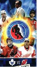 14th Hockey Hall of Fame Game Ticket Nov. 8, 2013 Devils at Toronto Maple Leafs