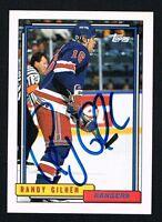 Randy Gilhen #27 signed autograph auto 1992-93 Topps Hockey Trading Card