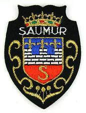 Ecusson brodé ♦ (patch/crest embroidered) ♦ SAUMUR