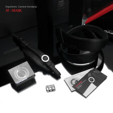 Gariz Leather Alcantara Neck Strap Wrist Grip Bundle for DSLR AT-NFABK Black