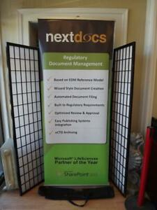 """Skyline Retractable Banner Stand Portable Roll Up/Pop Up Display Stand 84""""x32"""""""