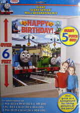 Giant Thomas the Tank Engine Wall Party Decoration Kit (6' Tall) 5 Decorations