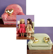 SEWING PATTERN! MAKE DOLL CLOTHES~COUCH~CHAIR!  FITS AMERICAN GIRL LANIE~MCKENNA