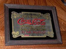 Coca Cola Delicious 5 Cents Relieves Fatigue Refreshing Drink Mirror Sign