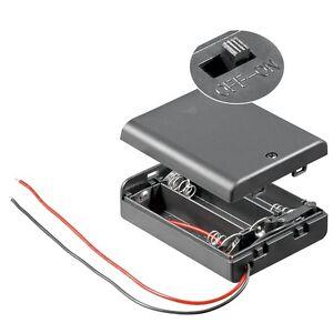Batteriehalter 3x AA mit EIN-AUS Schalter geschlossen/ Batterie-Fach 3 x Mignon
