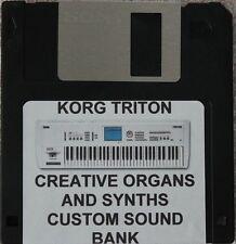 "Korg Triton ""Creative  Organs and Synths""  Custom programmed sound bank"