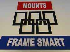 4 x BLACK PICTURE/PHOTO MOUNTS 6x6 for 4x4