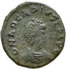Ancient Rome  383- 408 AD ARCADIUS AE4 NUMMUS VICTORY CAPTIVE CHI RHO #3
