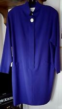 Jones New York Purple Wool Fully Lined Long Sleeve Pencil Skirt Dress. Medium