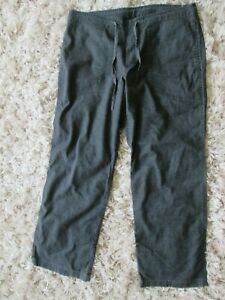 Prana Mens Sutra Drawstring Waist Pants Lightweight Gray hemp blend Sz. L