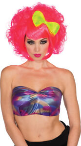Womens Adult Hot Pink CUTIE DOLL WIG Costume Accessory