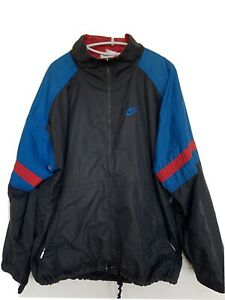 Nike Spell Out Tracksuit Top Jacket Vintage 90s Retro Sportswear Black Blue Red