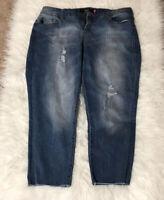 Torrid Distressed Raw Hem Cropped Skinny Jeans Size 16