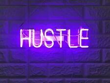 "New Hustle Neon Light Sign 14"" Lamp Beer Bar Acrylic Handmade"