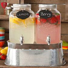 Jar Drink Dispenser Party Wedding Server Beverage Gallon Glass Juice Ice Bucket