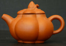 ANTIQUE Vintage CHINESE Signed YIXING MINIATURE TEAPOT Pottery Clay China