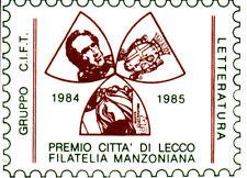 PICCOLA ETICHETTA C.I.F.T PREMIO CITTA' LECCO MANZONI FILATELIA MANZONIANA 1984