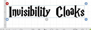 wizard Harry Inspired Invisibility Cloak Vinyl Sticker Delivered Next Day