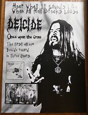 DEICIDE / RALPH SANTOLLA / ONCE UPON THE CROSS LP / CD  MAGAZINE AD PINUP +DVD