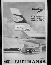 LUFTHANSA GERMAN AIRLINES BOEING 707 JET #D-ABOD & CV 340 BRASILIAN 1962 AD