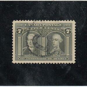 CANADA (MK4826) # 100  VF-USED  7cts  MONTCALM & WOLFE /DEEP GREEN CAT VAL $150