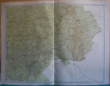 1919 LARGE MAP- EUROPE-RUSSIA EAST CENTRAL, SARATOV,VLADIMIR,PERM,VYATKA