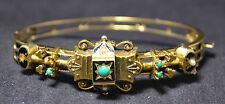 """#4000 - 6.25"""" Solid 18k Gold Heavy Hinged Bracelet Bangle - Antique? Vintage?"""